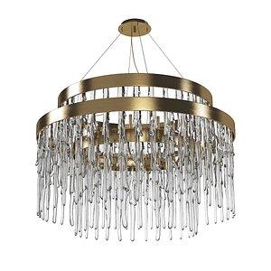 luxxu babel suspension chandelier 3D model