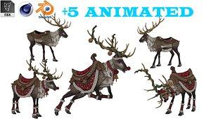 3D model Reindeer 01 model