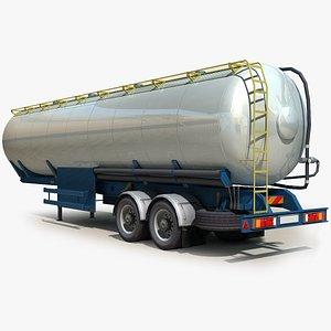 3D semi truck trailer tank model