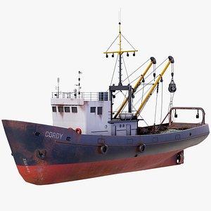 3D Old Fishing Vessel PBR