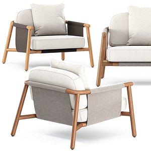 3D hamp lounge armchair model