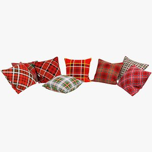 3D Tartan Pillows V1