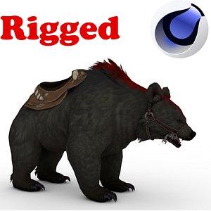Black BEAR Rigged 3D