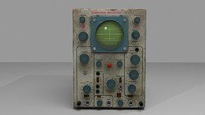 3D old oscilloscope c1-54