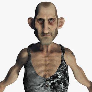 Old Thin Man Rigged Character model