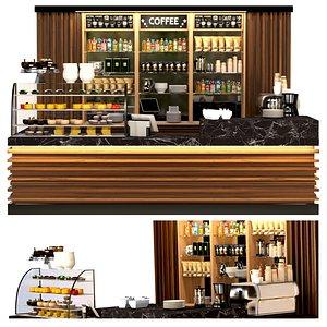 cafes bars 3D model