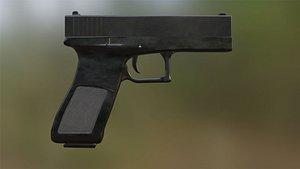 3D Glock-19 Pistol model
