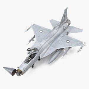 PAC JF-17 Thunder Pakistan Air Force with Armament Rigged 3D model