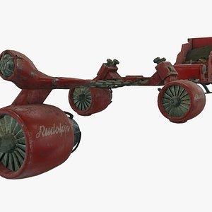sleigh dieselpunk 3D model