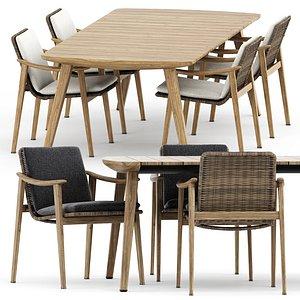 3D fynn table chair