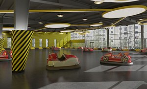 3D Bumper Car Amusement Park Bumper Car Amusement Park model