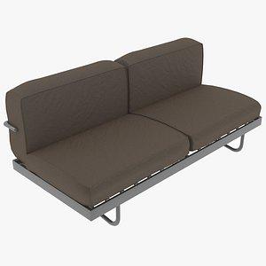 3D model sofa le corbusier cassina