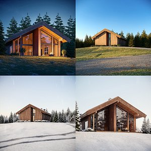 Log Cabin Complete Scenes Collection 3D model