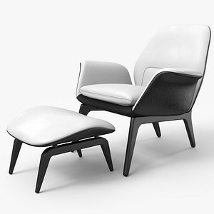 Lounge Chair BW Leather - PBR 3D