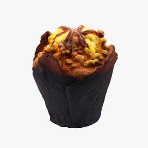 3D caramel muffin model