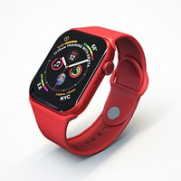 3D Apple Watch 6 Red