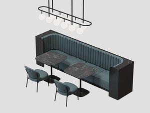 3D restaurant seat model