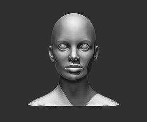 3D female head realistic