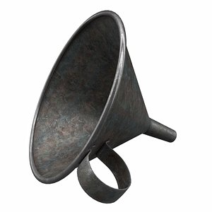 funnel metal 3D model