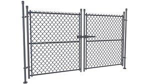 3D Chain Link Gate model