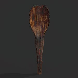 3D Medieval Dark Spoon