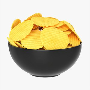Potato chips in bowl 01 model