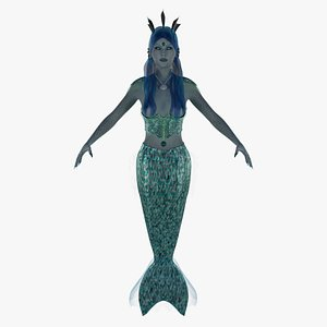 mermaid rigged 3D