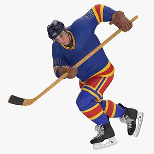 hockey attacker character 03 3D model