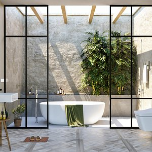 3D model bath bathroom classic