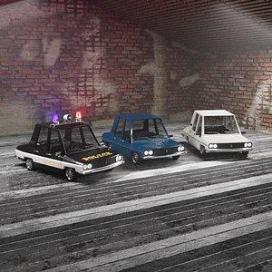 Cartoon Car Toros Full Set 3D model