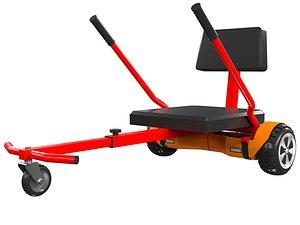 board hover hoverboard 3D