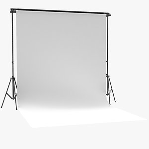 3D model photo real backdrop screen