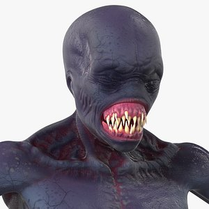 Scary Creature Rigged for Maya 3D