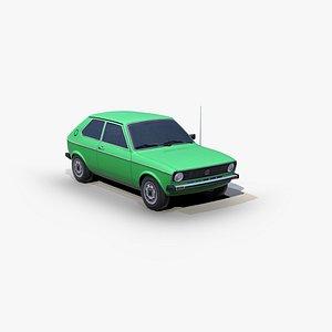 3D Volkswagen Polo L 1977