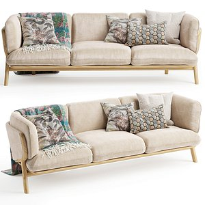 3D model STANLEY 3 Seat Sofa