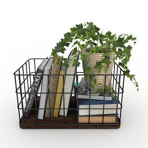 books plant 3D model