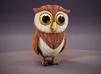 Cartoon Owl Animated 3D Model