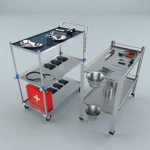 medical cart modeled model