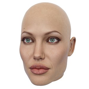 3D angelina jolie head model