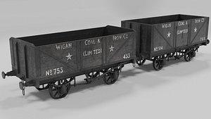 Coalwagons 3D model