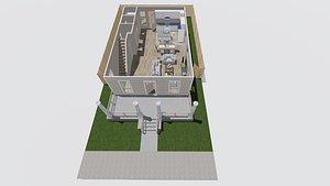 house 2 story model
