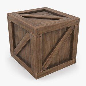 Wooden Crate 02 3D model