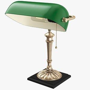 desk lamp banker 3D