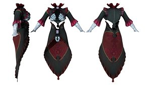 3D Cosplay Shell Outfit model