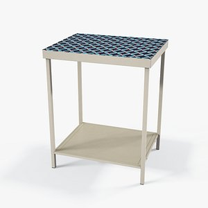 Modoc End Table painted frame model