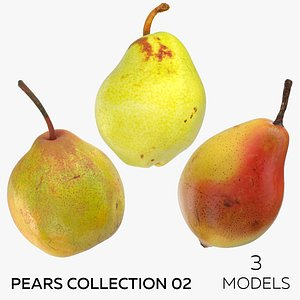 Pears Collection 02 - 3 models 3D