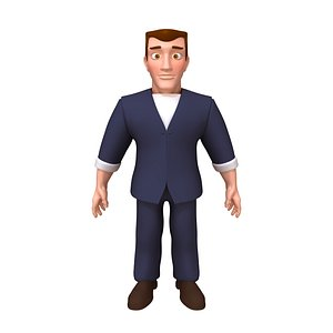 3D Man Cartoon 05 model