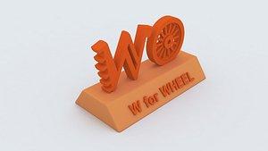 3D wheel learning printable model