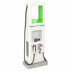 Electric Vehicle Charging Station Electrify America Part 3 3D model