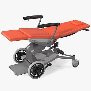 transport chair unfolded 3D model